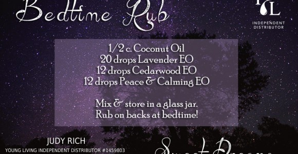 bedtime rub recipe young living essential oils